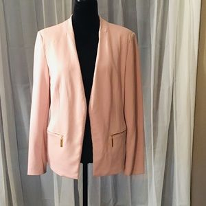 Pink career suit blazer